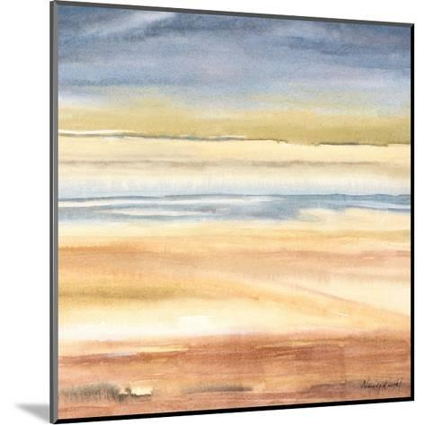 Waves on the Shore-Nancy Knight-Mounted Art Print