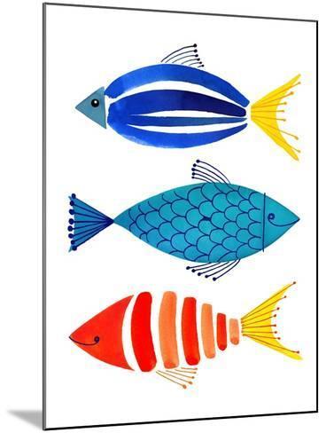 Summer Fish Trio-Margaret Berg-Mounted Art Print