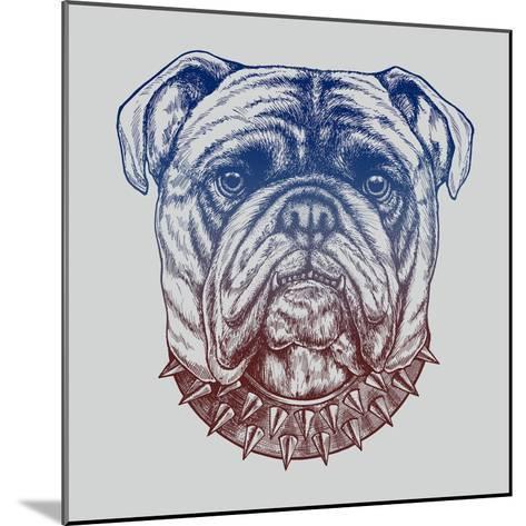 Gritty Bulldog-Rachel Caldwell-Mounted Art Print