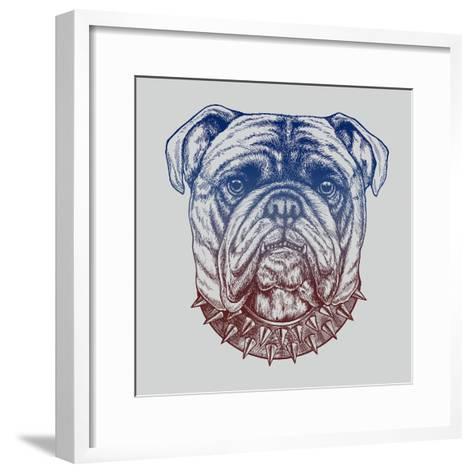 Gritty Bulldog-Rachel Caldwell-Framed Art Print