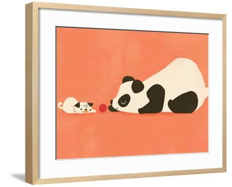 The Pug and the Panda-Jay Fleck-Framed Art Print