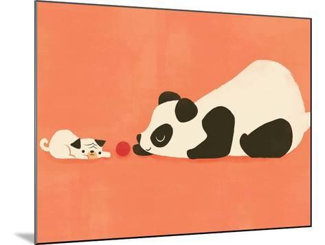 The Pug and the Panda-Jay Fleck-Mounted Art Print