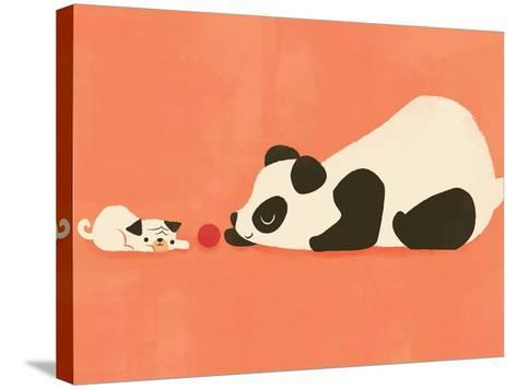 The Pug and the Panda-Jay Fleck-Stretched Canvas Print
