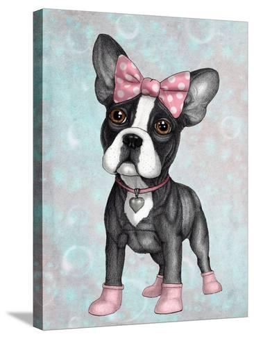 Sweet Frenchie-Barruf-Stretched Canvas Print