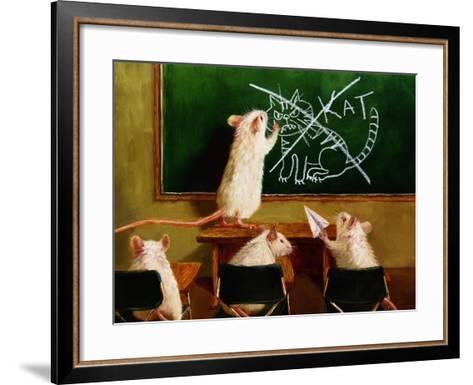 When the Cat Is Away-Lucia Heffernan-Framed Art Print