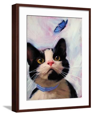 Cat and Butterfly-Diane Hoeptner-Framed Art Print
