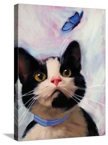 Cat and Butterfly-Diane Hoeptner-Stretched Canvas Print