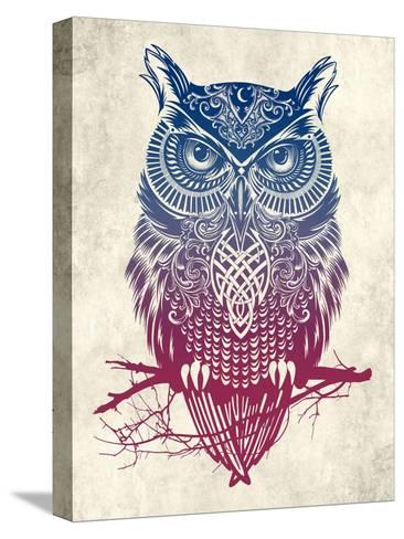 Warrior Owl-Rachel Caldwell-Stretched Canvas Print