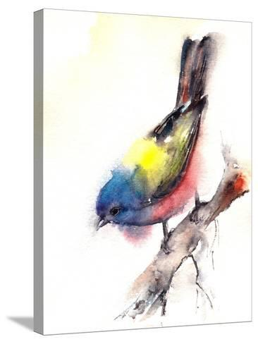 Bunting Bird- CanotStop-Stretched Canvas Print