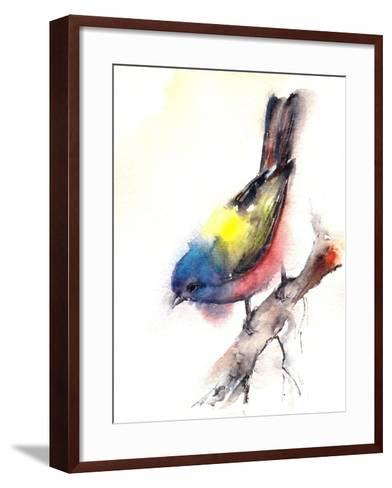 Bunting Bird- CanotStop-Framed Art Print