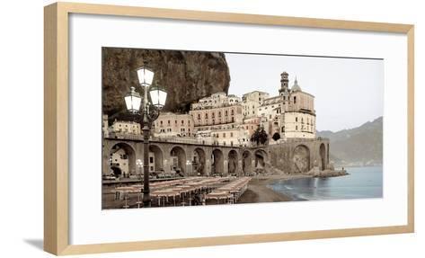Atrani Caffe #5A Horizontal-Alan Blaustein-Framed Art Print