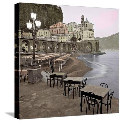 Atrani Caffe #5-Alan Blaustein-Stretched Canvas Print