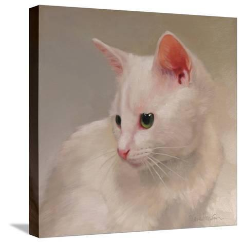 White Kitten-Diane Hoeptner-Stretched Canvas Print