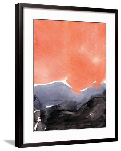 Orange Blue Graphite-Iris Lehnhardt-Framed Art Print