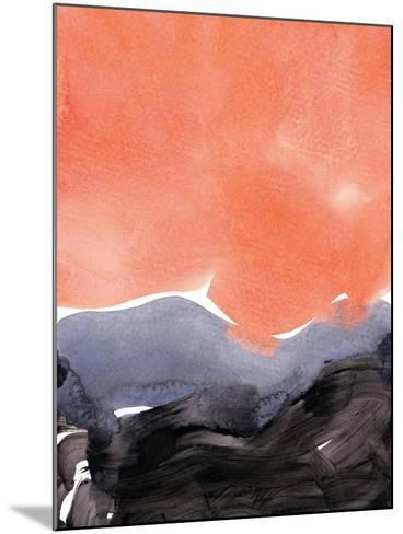 Orange Blue Graphite-Iris Lehnhardt-Mounted Art Print