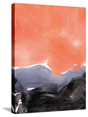 Orange Blue Graphite-Iris Lehnhardt-Stretched Canvas Print