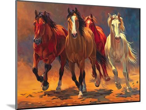 Hoofbeats and Heartbeats-Nancy Davidson-Mounted Art Print