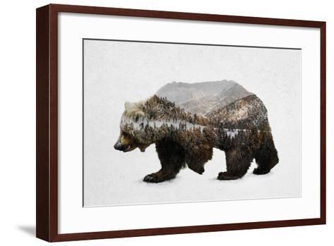 The Kodiak Brown Bear-Davies Babies-Framed Art Print