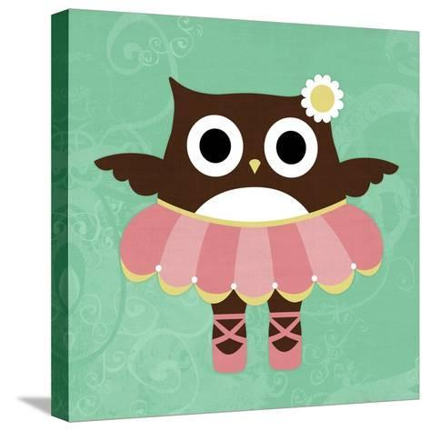 Ballerina Owl-Nancy Lee-Stretched Canvas Print