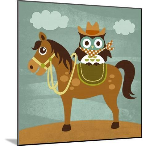 Cowboy Owl on Horse-Nancy Lee-Mounted Art Print