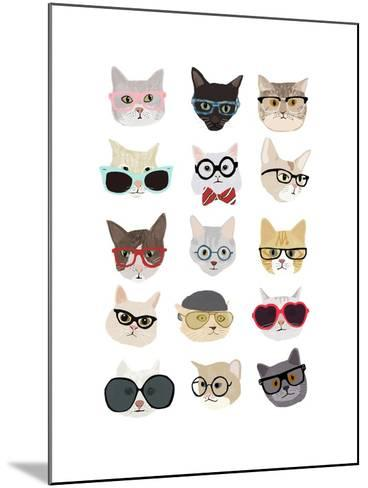 Cats with Glasses-Hanna Melin-Mounted Art Print