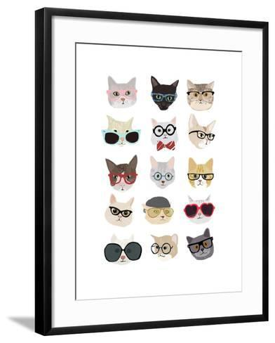 Cats with Glasses-Hanna Melin-Framed Art Print
