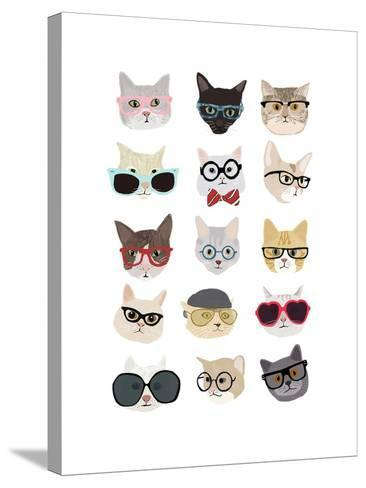 Cats with Glasses-Hanna Melin-Stretched Canvas Print