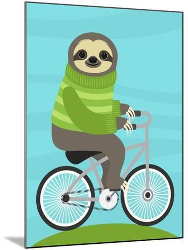Cycling Sloth-Nancy Lee-Mounted Art Print