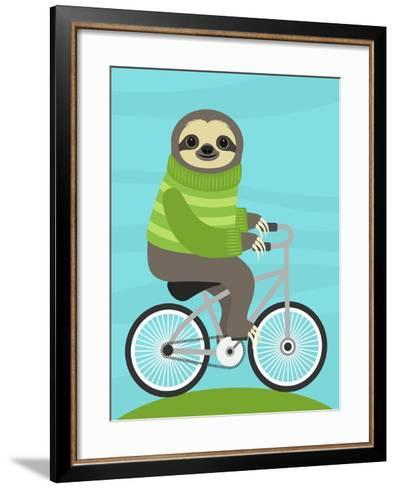 Cycling Sloth-Nancy Lee-Framed Art Print