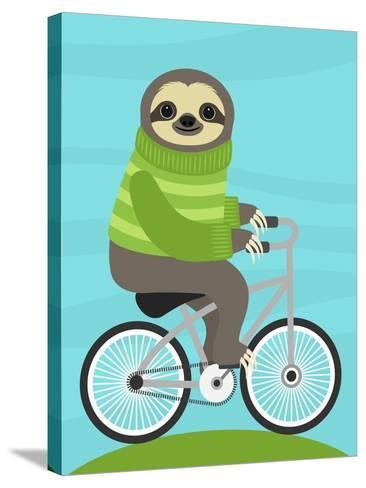 Cycling Sloth-Nancy Lee-Stretched Canvas Print