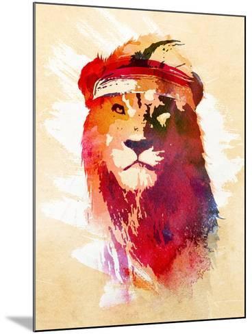 Gym Lion-Robert Farkas-Mounted Art Print