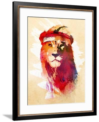 Gym Lion-Robert Farkas-Framed Art Print