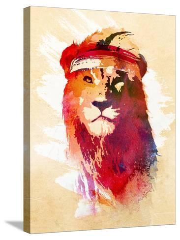 Gym Lion-Robert Farkas-Stretched Canvas Print