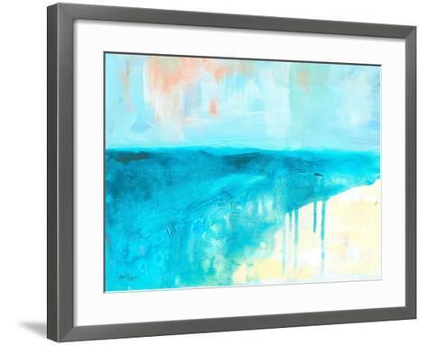 Coastal Blues 2-Jan Weiss-Framed Art Print