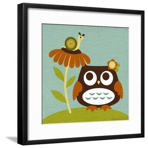 Owl Looking at Snail-Nancy Lee-Framed Art Print