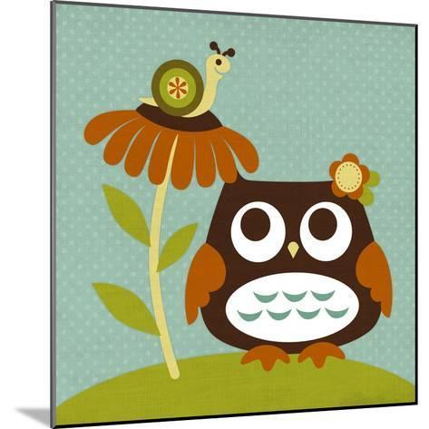 Owl Looking at Snail-Nancy Lee-Mounted Art Print