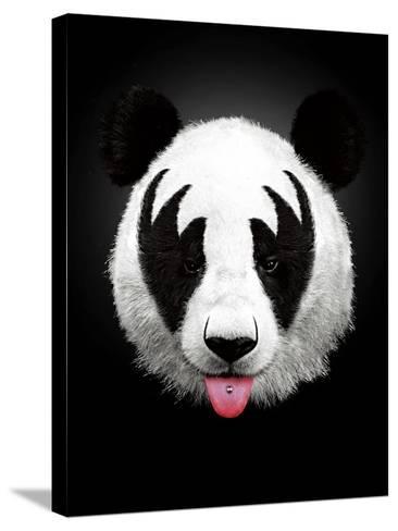 Panda Rocks-Robert Farkas-Stretched Canvas Print