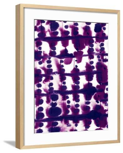 Parallel Purple Mauve-Jacqueline Maldonado-Framed Art Print