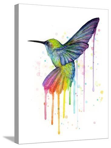 Rainbow Hummingbird-Olga Shvartsur-Stretched Canvas Print