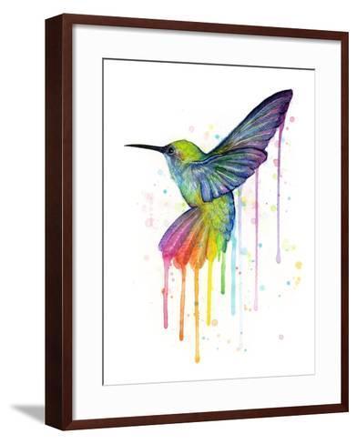Rainbow Hummingbird-Olga Shvartsur-Framed Art Print