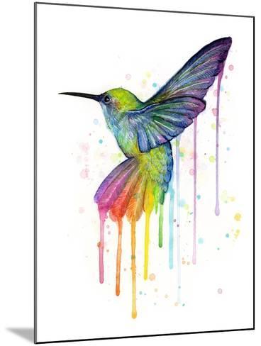 Rainbow Hummingbird-Olga Shvartsur-Mounted Art Print