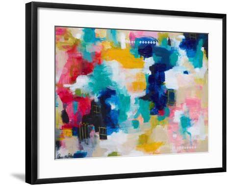 House with a Picket Fence-Amira Rahim-Framed Art Print