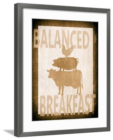 Balanced Breakfast Two-Alicia Soave-Framed Art Print