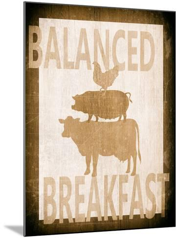 Balanced Breakfast Two-Alicia Soave-Mounted Art Print