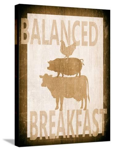 Balanced Breakfast Two-Alicia Soave-Stretched Canvas Print