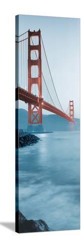 Golden Gate Bridge at Dawn (B)-Alan Blaustein-Stretched Canvas Print