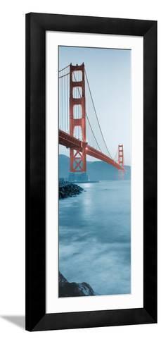 Golden Gate Bridge at Dawn (B)-Alan Blaustein-Framed Art Print