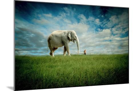 Elephant Follow Me-Jeff Madison-Mounted Art Print