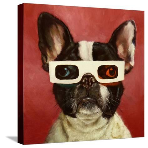 3D Dog-Lucia Heffernan-Stretched Canvas Print