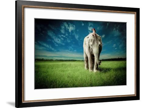 Elephant Carry Me-Jeff Madison-Framed Art Print